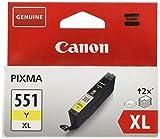 Canon CLI-551XL Y original Tintenpatrone  Amarillo XL für Pixma Inkjet Drucker MX725-MX925-MG5450-MG5550-MG5650-MG6350-MG6450-MG6650-MG7150-MG7550-iP7250-iP8750-iX6850