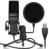 Yanmai USB PC Mikrofon, PC Laptop Gaming Mikro Plug & Play Aufnahme Mikrofone, Professional Podcast-Kondensatormikrofon-Kit mit Stativ und Pop-Filter für Mac/PS4/ Desktop PC Laptop