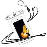 YOSH wasserdichte Handyhülle Beutel Schwimmen Tauchen Kanu Wassersport für iPhone X/8/7/6/6s Plus für Samsung S9/S8/S7/S6/S5/A5 für Huawei für HTC, mit Trageband, bis zu 6,8 Zoll (weiß)