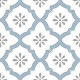 Wallpops FP2943 Alfama Peel & Stick Floor Tiles Bodenfliesen, Mehrfarbig