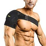 Schulterbandage für Frauen und Herren, Bandage Schulter Rechts Links Kompression Verstellbare Schulterschutz Schultergurt für AC-Gelenke, Sehnenentzündungen, Sportverletzungen Schmerzlinderung