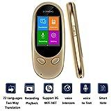 ZWDM Intelligente Sprachübersetzungsausrüstung, 2,0-Zoll-Touchscreen, 72-sprachige bidirektionale Übersetzungsunterstützung, 3G-WLAN-Hotspot, 8-stündige Live-Chat-Telefonkonferenz für Geschäftsreisen