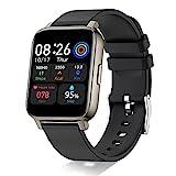 Smartwatch,1.69 Zoll Touch Farbdisplay Fitness Armbanduhr mit Pulsuhr Schlafmonitor Fitness Tracker IP68 Wasserdicht Sportuhr Smart Watch mit Schrittzähler,Stoppuhr Fitnessuhr für Damen Herren,Schwarz