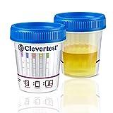 Clevertest Multi Drogentest Für 5 Drogen Arten - Professioneller Drogenschnelltest Im Sterilen & Hygienischen Becher - Urintest In Prüflabor Qualität