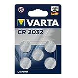VARTA CR2032 Lithium Knopfzellen 3V Batterie in Original Blisterverpackung, 5er Pack