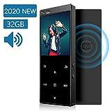 IHOUMI 32GB MP3 Player Bluetooth 4.2 mit Verlustfreier Sound FM Radio,Sprachaufzeichnung,E-Book Funktionen,1.8 Zoll Sport MP3-Player mit Lanyard,Unterstützt bis 64GB TF Karte