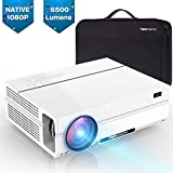 TOPVISION Heimkino Beamer, 6500 Lumen Video Projektor with 80.000 Stunden Verlängert, Native 1080P LCD Beamer Full HD, 4K 300'' Heim/Berufsprojektor für Smartphone/PC/TV-Box/Laptop/PS4/PPT