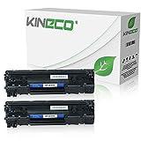 2 Kineco Toner kompatibel zu HP CE285A CE285X Laserjet Pro P1100, Laserjet Pro P1102w ePrint, Laserjet Pro M1132 All-in-One - 85A - Schwarz je 2.100 Seiten