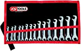 KS Tools 517.1700 Doppel-Maulschlüsselsatz. 15-teilig mit extrem flachen Köpfen