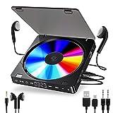 Gueray Tragbarer CD Player 1200 mAh Persönlicher Wiederaufladbar MP3 CD Player mit Doppelte 3.5mm...
