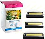 Bubprint Kompatibel Druckerkartusche + Fotopapier als Ersatz für Canon KP-108IN KP-108IP für Selphy CP1300 CP1000 CP1200 CP510 CP740 CP760 CP780 CP800 CP900 CP910