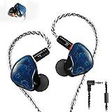 In-Ear Monitore, verkabelte Ohrhörer, Dual-Treiber Kopfhörer mit MMCX abnehmbare Kabel,...