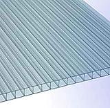 RK-Stegplatten, Polycarbonat, Stegplatten, Hohlkammerplatten, Gewächshausplatten, klar ca. 1500 x ca. 700 mm x 8 mm