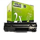 2X MWT Toner für Canon I-Sensys LBP 3010 3100 b ersetzt 1870B002 712 Schwarz Black