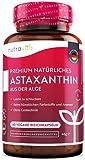 Premium natürliches Astaxanthin 16 mg - Aus der hochwertigen Mikroalge Haematococcus Pluvialis - Hochdosierte Kapseln mit Oxidationsschutz - 4 Monatsvorrat - Laborgeprüft