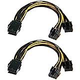 Grafikkarte Kabel,8-Pin-auf-8-Pin-PCIe-Adapter-Stromkabel, 2er-Pack 8-Pin-auf-Dual-PCIe-8-Pin (6+2)...