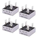 Taiss/4 Stücke Einphasige Diodenbrückengleichrichter 1000 V 50A AC zu DC Einphasen Metallgehäuse Diodenbrücke, Gleichrichter KBPC5010