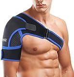 Schulterbandage Verstellbare Schulter Unterstützung Bandage, SGODDE für Verletzungen,Schulterschmerzen, arthritische Schultern, Neopren Schulterwärmer, für Linke/Rechte Schulter, Männer/Frauen