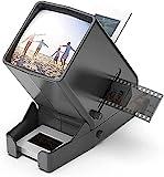 Portable LED Diabetrachter 35mm Negativ und Diaprojektor Dia-Betrachter mit 33fach vergrößernder...