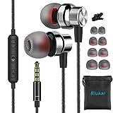 In Ear Kopfhörer, Blukar Stereo Ohrhörer mit Mikrofon, Lautstärkeregler, Ohrstöpseln und Premium...