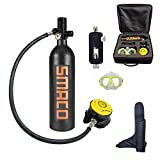 WJSX SMACO Scuba Diving Tank Equipment, Mini Scuba Dive Cylinder with 12-20 Minutes Capability, Pressure& Corrosion Resistant Material with Refillable Design(Lieferung ab deutschem Lager)
