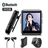 MP3 Player BENJIE 32GB MP3 Player Bloothooth 1,5' MP3 Player Sport Voller Touchscreen HiFi...
