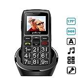 Artfone Mobiltelefon Seniorenhandy mit großen Tasten und ohne Vertrag, Mit Notruf-Knopf und 1400...