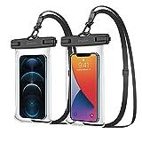 SIMPFUN wasserdichte Handyhülle Handytasche 7,0 Zoll (2 Stück) Handy Wasserschutzhülle IPX8 für...