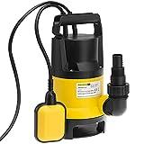 Wasserpumpe Tauchpumpe Tauchdruckpumpe   650 Watt   11.500 l/h   10 m Anschlußkabel   Farbe: Schwarz/gelb   Gartenpumpe