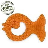 Bio Beißring 'Fish' All-Stage Beißring aus Naturkautschuk - Frei von chemischen Zusatzstoffen: 0% PVC, BPA, Phthalate (View amazon detail page)