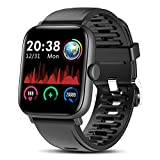 TagoBee Smartwatch Fitness Tracker IP67 1.54'' IPS voller Touchscreen Smartwatch Herren/Damen, Fitness Tracker mit Herzfrequenz,Call SMS SNS Reminder Activity Tracker für Android iOS(Schwarz)