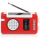 Duronic Hybrid Radio AM / FM – Solarenergie und USB-Ladegerät – Ideal für Camping, Wandern, zu...