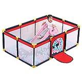 JFFFFWI Adorable Safety Play Center Yard Baby Laufstall Tragbares Aktivitätscenter Safety Playard Kinderzaun im Innen- und Außenbereich Anti-Fall-Spielstift für Säuglinge und Babys (Schiebeleiter NI