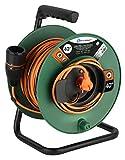 Electraline 49248 Kabeltrommel 40M 2x1.5 mit Steckdose Electralock, Stromanschlussverriegelungssystem da er ein versehentliches Trennen des angeschlossenen Geräts während seiner Verwendung verhindert