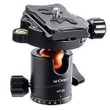K&F Concept KF25 Kugelkopf Stativkopf, Kamera Kugelkopf mit 1/4 Zoll Schnellwechselplatte und...