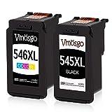 Vmosgo PG-545XL CL-546XL Druckerpatronen Ersatz für Canon 545 546 PG-545 CL-546 (Schwarz, Farbig) Kompatibel mit Canon Pixma MX495 MG2550 MG2555S MG3052 MG2550S MG2950S MG3050 iP2850 iP2800 iP2840