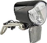 FISCHER Fahrrad Dynamo LED-Scheinwerfer 70 LUX   Fahrradlampe mit Standlichtfunktion  ...