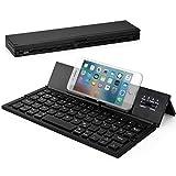 Wesimplelife Bluetooth Tastatur Faltbare QWERTZ Layout Kabellose Kleine Keyboard Ultradünn Portable...