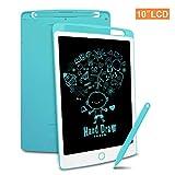Richgv LCD Writing Tablet mit Anti-Clearance Funktion, Digital Ewriter Grafiktabletts Mini Schreibtafel Papierlos Doodle Board (10 Zoll, Blau)