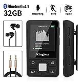 MP3 Player, Kingbox 32GB Bluetooth 4.1 Mini Sport MP3 Player mit Clip, HiFi Verlustfreier Sound...