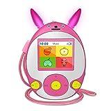 Kinder MP3 Player mit Bluetooth Lautsprecher Schlüsselband-Kopfhörer FM Radio Voice Recorder Video Spiele, Bluetooth Musik-Player mit 1,8-Zoll Display Erweiterbar auf 128 GB