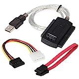 DIGIFLEX USB- Konverter Adapterkabel für 2,5'3,5' SATA IDE Festplattenlaufwerke - SATA HDD, 2,5' Festplatte, 3,5' Festplatte, CD-ROM, DVD-ROM, CD-RW, COMBO-Gerät, DVD-RW auf Computer mit USB 2.0