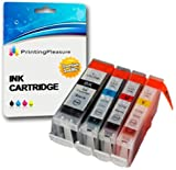4 Druckerpatronen für Canon BJC-3000 BJC-6000 BJC-6100 BJC-6200 BJC-6500 I550 I560 iP3000 iP4000 iP5000 MP700 MP730 MP780 S450 S520 S600 S750 | kompatibel zu BCI-3eBK BCI-6C BCI-6M BCI-6Y