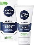 Sensitive Hautpflege – Die NIVEA MEN Sensitive Tagespflege mit Kamille & Vitamin E ist ideal für Männer mit empfindlicher Haut, die bestens gepflegt sein wollen.