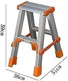 JIN Praktische Trittschemel Trittschemel, Haushalt Folding Doppel Leiter Aluminiumlegierung Schiebeleiter Multifunktionstechnik Leiter Hocker. Stabil