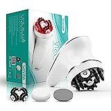 VOYOR Cellulite Massagegerät Anti Cellulite Massage Gerät für Gesicht Nacken Schulter Rücken Füße Fußbad mit 3 Muti-funktionsköpfe Gesichtsreinigungsbürste IPX7 Wasserdicht & Wiederaufladbar