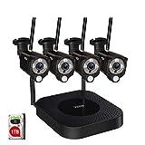 【2 Way Audio & PIR Sensor】 Tonton 8CH Full HD 3MP Überwachungskamera Außen Set mit...