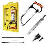 ILS - 9 in 1 Zaubersäge für Handsägen, Bogensägen für Holz aus Metall zum Schneiden von Werkzeugen