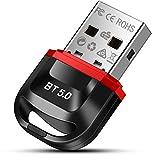 doedoeflu Bluetooth Adapter, Bluetooth 5.0 USB Adapter, Bluetooth Empfänger für Desktop, Drucker, Headset, Lautsprecher, für Windows 10/8.1/8/7 muttertagsgeschenk