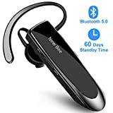 New bee Bluetooth Headset V5.0 Wireless Headset Bluetooth Freisprechen im Ohr mit Clear Voice...
